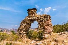 Alte Ruinen nahe Amer Fort in Jaipur Rajasthan, Indien Lizenzfreies Stockbild