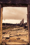 Alte Ruinen Perge die Türkei bei Sonnenuntergang Stockbild