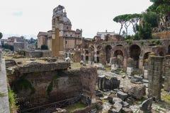 Alte Ruinen in Rom Stockfotografie
