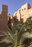 Alte Ruinen umgeben durch Oase stockbild