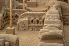 Alte Ruinen von Chan Chan - Trujillo, Peru Stockfotografie