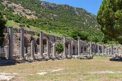 Alte Ruinen von Ephesus Stockfotos