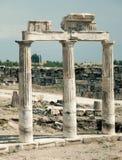 Alte Ruinen von Hierapolis Stockbild