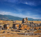 Alte Ruinen von Hierapolis Lizenzfreie Stockbilder