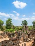 Alte Ruinen von Kambodscha im blauen Himmel, Siem Reap Stockfoto