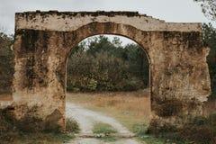 Alte ruinierte Bauwand Stockfotografie