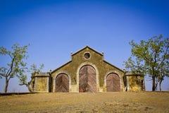 Alte ruinierte Gebäudestruktur, Scheune Lizenzfreie Stockfotografie
