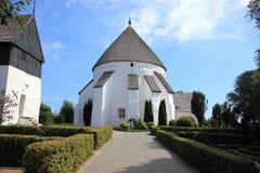 Alte runde Kirche bei Bornholm Dänemark Stockfotos