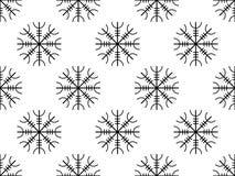Alte Runen nahtlosen Musters Galdrastafir, verflochtene Runen Vektor stock abbildung