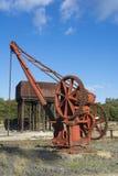 Alte Rusing-Maschinerie - Bahnhof Burra stockbild