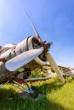 Alte russische Flugzeuge An-2 Stockfotos