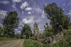 Alte russische Kirche Stockbild
