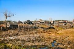 Alte russische Landschaft Lizenzfreie Stockfotos