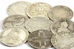 Alte russische Münzen Stockbilder