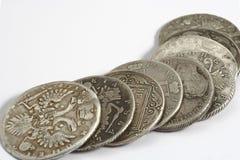 Alte russische Münzen Stockfoto