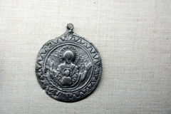 Alte russische Medaille Lizenzfreie Stockfotografie