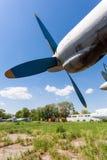 Alte russische Turboprop-Triebwerk Flugzeuge Lizenzfreie Stockfotografie