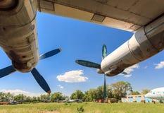 Alte russische Turboprop-Triebwerk Flugzeuge Stockbild