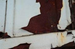 Alte rustikale Blechtafel Stockbild