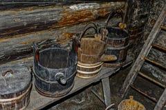 Alte rustikale ländliche Bauernhauswäscherei Lizenzfreie Stockfotos
