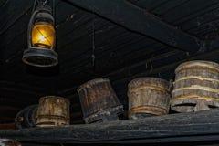 Alte rustikale ländliche Bauernhauswäscherei Stockbilder