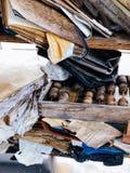 Alte Sachenabfall-Abakusbücher Stockbild