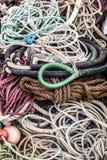 Alte Sammlung Seile für Marinegebrauch oder Sammlung Lizenzfreies Stockfoto
