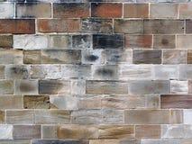 Alte Sandstein-Block-Wand Lizenzfreie Stockfotos