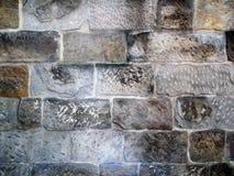 Alte Sandstein-Block-Wand Stockbilder