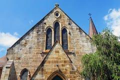 Alte Sandsteinkirche Stockfotos
