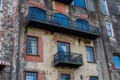 Alte Savannah Building Lizenzfreies Stockbild