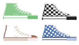 Alte scarpe da tennis superiori Immagini Stock Libere da Diritti