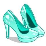 Alte scarpe isolate delle colline Fotografie Stock