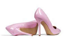 Alte scarpe rosa dell'inferno Fotografie Stock Libere da Diritti