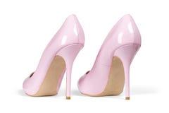 Alte scarpe rosa dell'inferno Fotografia Stock