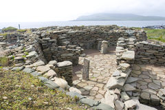Alte Scatness Ruinen, Shetland Lizenzfreie Stockfotos
