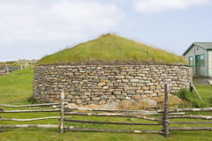 Alte Scatness Ruinen, Shetland Lizenzfreie Stockbilder