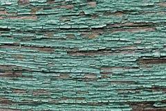 Alte schäbige hölzerne Planken mit gebrochener Farbefarbe Lizenzfreie Stockfotos