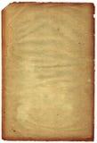 Alte schäbige Seite mit altersschwachem Rand (Scan). stockbild
