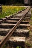 Alte schädigende Bahn Stockfoto