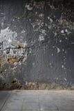 Alte schädigende Betonmauer Stockbild