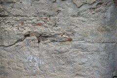 Alte schädigende Betonmauer Lizenzfreie Stockfotos