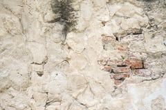 Alte schädigende Betonmauer Stockfoto