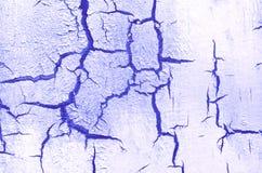 Alte schädigende gebrochene Farben-Wand, Schmutz-Hintergrund, blaue Farbe Lizenzfreie Stockbilder
