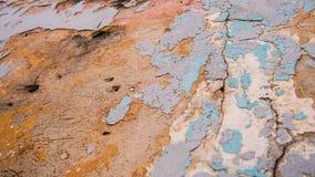 Alte schädigende Wand mit Farbe Lizenzfreies Stockbild