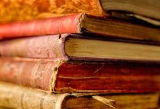 Nahaufnahme der alten Bücher Lizenzfreie Stockbilder