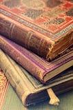 Nahaufnahme der alten Bücher stockfotografie