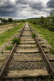 Alte schöne Eisenbahn Lizenzfreie Stockfotografie
