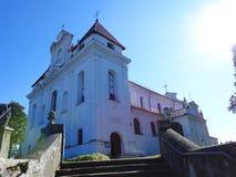 Alte schöne katholische Kirche, Litauen stockbild