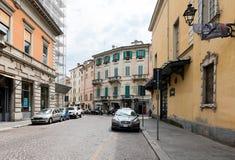 Alte schöne nette Straße in Parma Italien Lizenzfreie Stockfotos